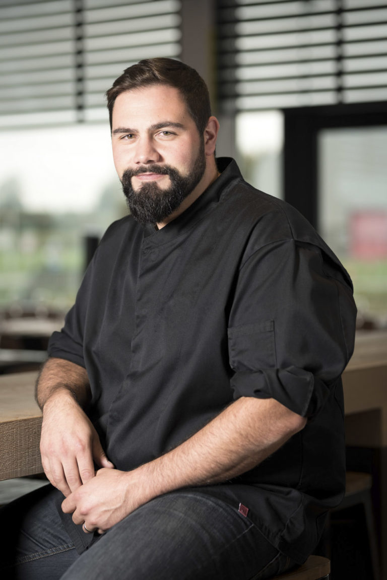Corporate portrait of the chef of the Martin's Red Hotel Tubize***